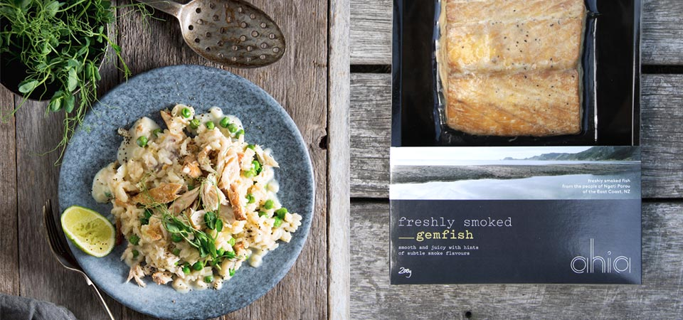 recipe banner GEMFISH AND PEA RISOTTO