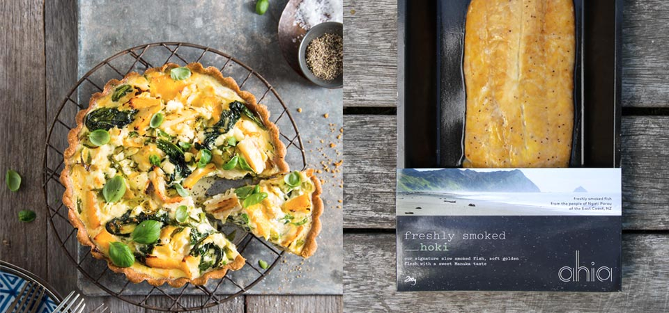 recipe banner HOKI AND SPINACH TART